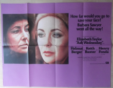 Ash Wednesday, Super RARE Original UK Quad Poster, Elizabeth Taylor, Fonda, '73
